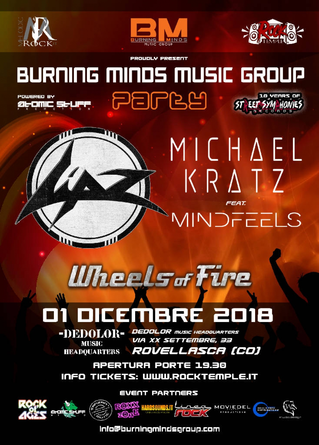 Burning Minds Music Group Party 2018
