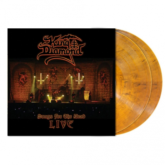King Diamond - Songs For The Dead - Live - TRANSPARENT AMBER MARBLE VINYL - LIMITED 700 COPIES