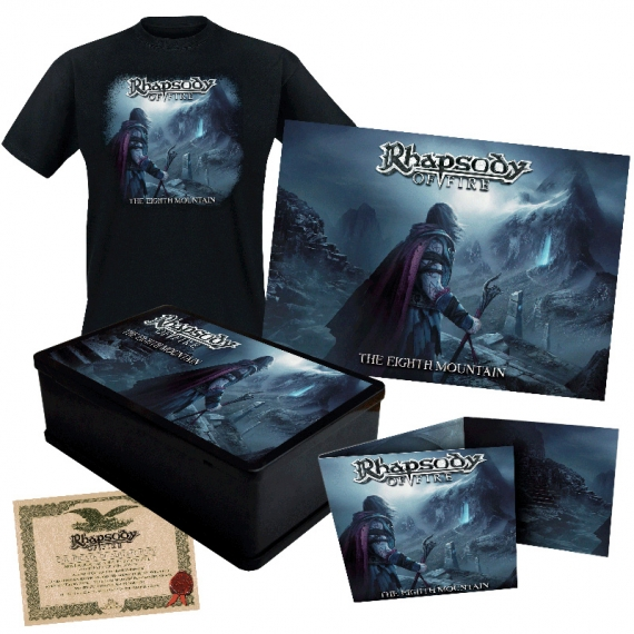 Rhapsody Of Fire - The Eighth Mountain - incl. T-Shirts SIZE M, Poster, Sticker & more