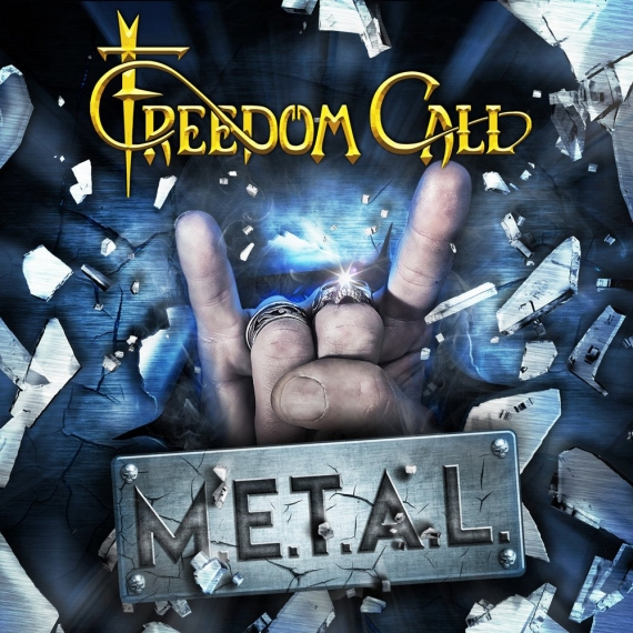 Freedom Call - M.E.T.A.L. - Blue marbled Vinyl